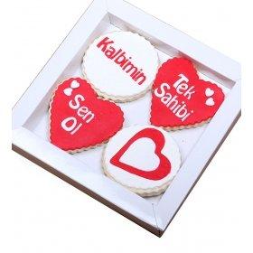 Happy Cookies Kalbimin Tek Sahibi Kurabiyeleri