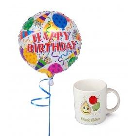 eJOYA İyiki Doğdun Uçan Balon ve Fincan Hediye Paketi