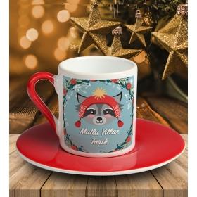 eJOYA Kişiye Özel Mutlu Yıllar Temalı Türk Kahvesi Fincanı 81032