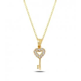 eJOYA Kalbimin Anahtarı 14 Ayar Altın Kolye Ucu 80668