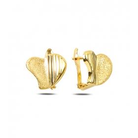eJOYA Kalp Altın Küpe 80937
