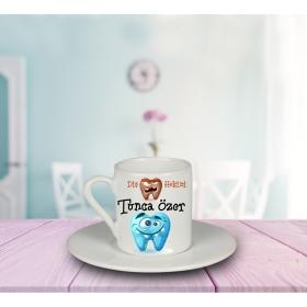 eJOYA Kişiye Özel Dişhekimi Türk Kahvesi Fincanı 80926