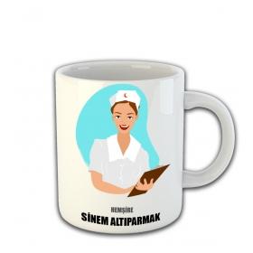 eJOYA Kişiye Özel Hemşire Temalı Kupa Fincan 81465