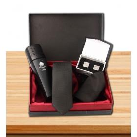 eJOYA Kişiye Özel Kol Düğmesi Kravat ve Parfüm Hediye Seti 81487