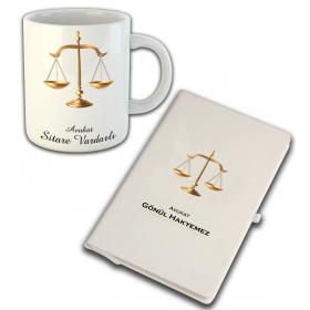 eJOYA Kişiye Özel Mesleki Avukat Temalı Defter Ve Kupa 81411