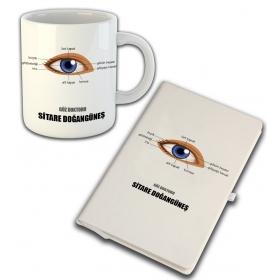 eJOYA Kişiye Özel Mesleki Göz Doktoru Temalı Defter Ve Kupa 81421