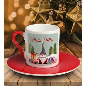 eJOYA Kişiye Özel Mutlu Yıllar Temalı Türk Kahvesi Fincanı 81033