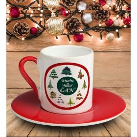 eJOYA Kişiye Özel Mutlu Yıllar Temalı Türk Kahvesi Fincanı 81035