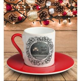 eJOYA Kişiye Özel Mutlu Yıllar Temalı Türk Kahvesi Fincanı 81036