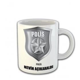 eJOYA Kişiye Özel Polis Temalı Kupa Fincan 81474