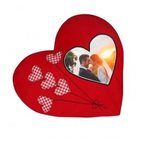 eJOYA Kişiye Özel Resimli Kalp Yastık 81305