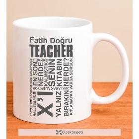 Kişiye Özel Teacher Tipografi Kupa Bardak 79914