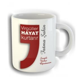 eJOYA Kişiye Özel Türkçe Öğretmenleri için Kupa Fincan 80786