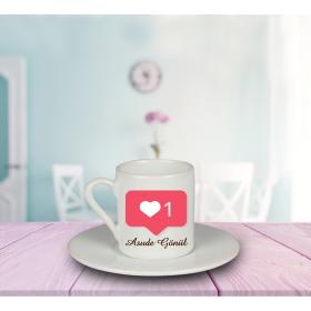 eJOYA Kalbimde Teksin Kişiye Özel Türk Kahvesi Fincanı 80931