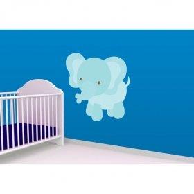 Maviş Yavru Fil Duvar Sticker