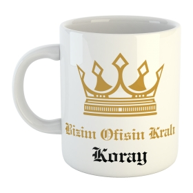 eJOYA Ofisin Kralı Kişiye Özel İsimli Kulplu Bardak 79568