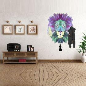 Rengarenk Aslan Askılık Duvar Sticker