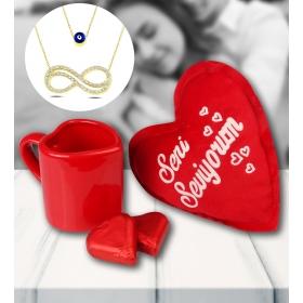 eJOYA Sevgililer Günü Kalp Temalı Hediye Seti 81508