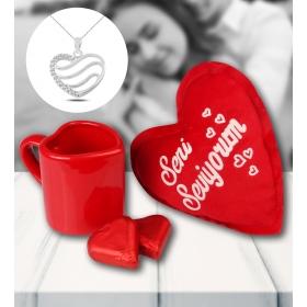 eJOYA Sevgililer Günü Kalp Temalı Hediye Seti 81509