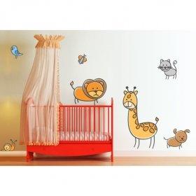 Sevimli Hayvanlar Alemi  SHA01 Duvar Sticker