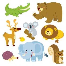 Sevimli Hayvanlar Alemi  SHA02 Duvar Sticker