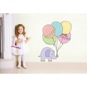 Şirin Fil ve Balonlar Duvar Sticker