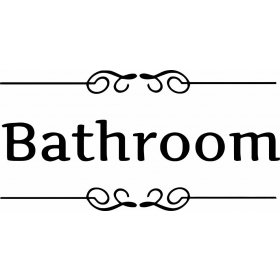 Tuvalet Bathroom Sticker 79003