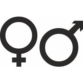 Tuvalet Erkek Dişi Sticker 79005