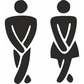 Tuvalet Erkek ve Bayan Banyo Sticker 78983