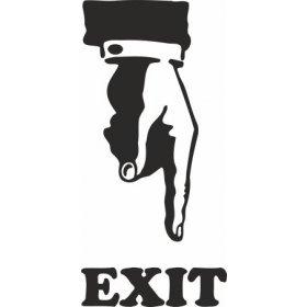 Tuvalet Exit Sticker 79001