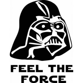 Tuvalet Feel The Force Sticker 78997