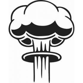 Tuvaletteki Nükleer Patlama Sticker 79017