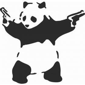 Tuvaletteki Panda Sticker 79015