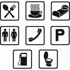 Tuvalet ve İşaretler Banyo Sticker 78993