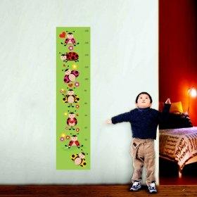 Uğur Böcekleri Boy Cetveli Duvar Sticker