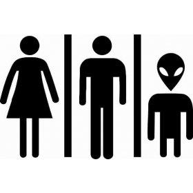 Uzaylı Aile  Banyo Sticker 78988